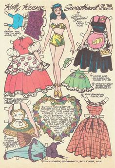 THREE Vintage Katy Keene Comic Paper Doll Pages delivers online tools that help you to stay in control of your personal information and protect your online privacy. Comic Book Paper, Comic Books, Paper Doll Costume, Paper Art, Paper Crafts, Paper Dolls Printable, Archie Comics, Vintage Paper Dolls, E Bay