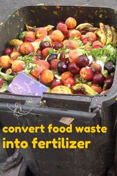 A biotechnology for aerobic conversion of food waste into organic fertilizer under controlled aeration, stirring, pH and temperature at 55–65°C, is proposed