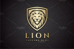 Lion Shield Logo by yopie on @creativemarket
