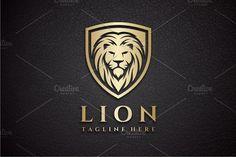Lion Shield Logo Templates **Logo Template :**- Vector** logo- **Resizable**- **Color** & **Text** are **Editabl by yopie Business Illustration, Pencil Illustration, Best Logo Design, Graphic Design, Lion Logo, Shield Logo, Luxury Logo, Font Names, Game Logo