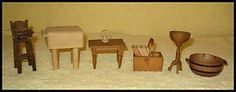 Antique Doll House Assortment of Goodies