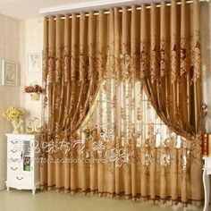 Modern Fashion High Quality Window Screening Curtain Finished Product Window Curtains Without Blackout Lining Curtain. 19.55/meter