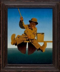 Fisherman on Pier, LIFE Magazine cover By Maxfield Parrish ,1921