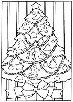 Christmas Tree Coloring Pages Photos Behairstyles