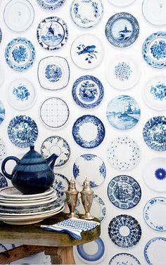 Studio Ditte,Porcelain wallpaper blue