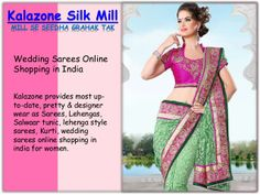 Find Here Wedding Sarees Online Shopping in India