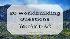 20 Worldbuilding Questions You Need to Ask Writing advice | writing tips #CherylProWriter Writing Advice, Writing Styles, Writing Prompts, Writing Fantasy, Fantasy Romance, Questions To Ask, Free Books, Writer, Ideas