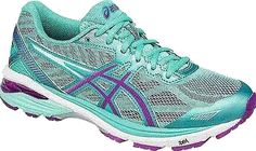 ASICS Shoes - Be prepared for a strong and steady run in the women's ASICS GT-1000 5 Running Shoe. Featuring breathable synthetic and mesh upper materials with a soft textile lining at the inner. - #asicsshoes #mintshoes