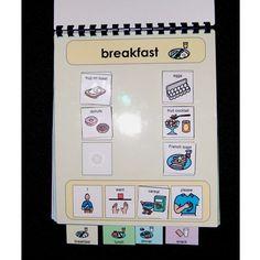 Meal Communication Book Autism,PECS,Speech,Eating. $25,00, via Etsy.