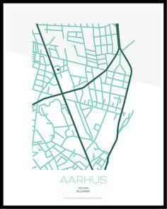 Custommade design ByCatfish poster of your neighbourhood by Pia Rolschau Hansen, via Behance
