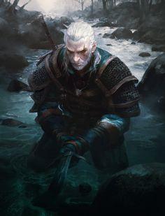 Witcher3 Geralt , MICHAEL CHANG on ArtStation at https://www.artstation.com/artwork/bdaLr