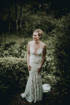 Photographer: Bradford Martens | Dress: Inbal Dror | Bridal Accessories: Mark Ingram Atelier | Hair: Ricky Hodge Salon | Makeup: Christie Griffin