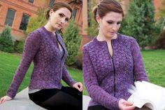"'Harmony' cardigan, crochet pattern by Anastasia Popova. Sizes up to 55.5"" bust. PDF pattern $6.50 from Tangled Online magazine."
