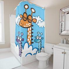 Colorida Jirafa. Producto disponible en tienda Zazzle. Decoración para el hogar. Product available in Zazzle store. Home decoration. Regalos, Gifts. Link to product: http://www.zazzle.com/colorida_jirafa_shower_curtain-256419607029943499?CMPN=shareicon&lang=en&social=true&rf=238167879144476949 #shower #curtain #cortina #jirafa #giraffe