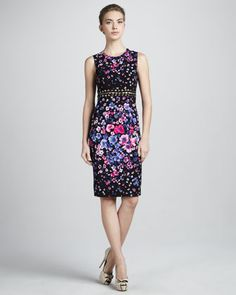 Cutout-Waist Floral Dress by Versace at Neiman Marcus. $2,250 .. Mar 2013