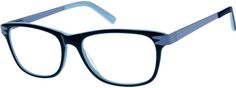 "Order online, women blue full rim mixed materials wayfarer eyeglass frames model #788016. Visit Zenni Optical today to browse our collection of glasses and sunglasses. I really want the ""black"" shade they are a black frame with a pink inside and white arms"