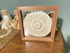 Make it a gift for Mom's craft area, hang on the will or it can stand alone - Borgmanns Creations Wall Hanger, Hangers, Doily Art, Rustic Home Interiors, Country Farmhouse Decor, Hanging Signs, Crochet Doilies, Special Gifts, Bedroom Decor