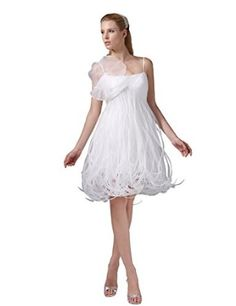Dressystar Short Spaghetti Prom Gowns Wedding Dresses Lace-up Backe