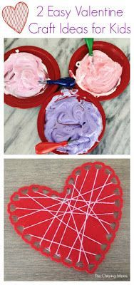 Two Easy Valentine Craft Ideas for Kids || The Chirping Moms