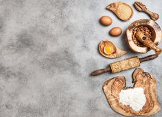 Baking Ingredients. Food by LiliGraphie on @creativemarket
