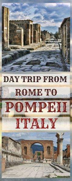 Pompeii day trip from Rome Italy - how to visit Pompeii by train, how to get there, things to do and see, where to eat, how to get tickets and much more! #ItalyTravel