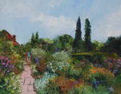 Borders At Sissinghurst, Kent, Oil painting by Brian Hanson | Artfinder