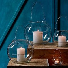 cute orb lantern that I could make with a fishbowl and some wire