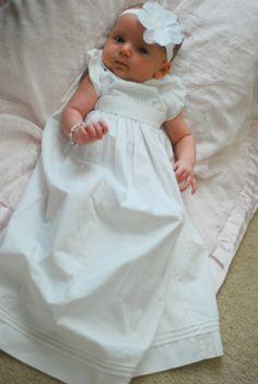 Blessing dress ---I like the tucks