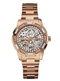 Dazzling Sport Skeleton Watch | GUESS.com