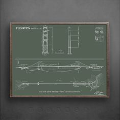 Golden Gate Bridge Architecture Blueprints, Plans and Elevations  If youre looking for a bloody marvelous set of Golden Gate Bridge blueprint