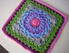 Berry Kata Square-Leads to a CAL on Ravelry. Lots more squares.