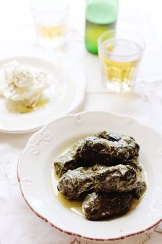 Greek Dolmades in avgolemono