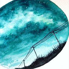 Milkyway Galaxy Art is part of Art drawings - Milkyway GalaxyMilkyway Galaxy See it Watercolor Techniques, Art Techniques, Watercolor Tutorials, Painting Videos, Painting & Drawing, Body Painting, Art Paintings, Watercolor Paintings, Easy Watercolor