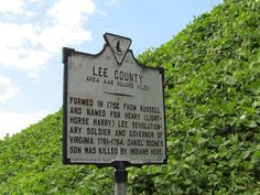 Lee County is the westernmost county in the state of Virgina and it's the county due west of Scott County where I grew up. Cumberland Gap lies at the intersection of Virginia, Tennessee and Kentucky.