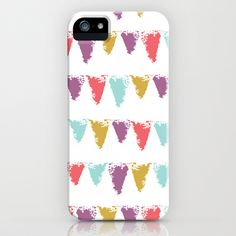 """Butterfly Garden - Bunting"" Phone Cases by Rebecca Stoner"