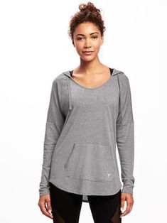 Go-Dry Loose-Fit Hooded Tunic for Women | Old Navy
