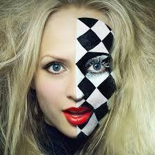 resultado de imagen de harlequin makeup