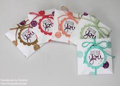 Stampin Up Box, Envelope Punch Board, Stanz - und Falzbrett für Umschläge, Verpackung, Goodie, Give Away, Stempelset Work of Art, In Color 2013 - 2015 , Dicke Kordel, Basic Perlenschmuck