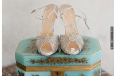 So awesome! - silver retro wedding heels | CHECK OUT MORE GREAT VINTAGE WEDDING IDEAS AT WEDDINGPINS.NET | #weddings #vintagewedding #weddingvintage #oldweddingphotos #events #forweddings #iloveweddings #romance #vintage #planners #old #ceremonyphotos #weddingphotos #weddingpictures