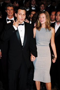 Pin for Later: 53 of the Most Nostalgic Photos From the Cannes Film Festival  Then-couple Johnny Depp and Kate Moss walked the red carpet together for the premiere of The Brave in 1997.