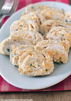 Jalapeno Popper Chicken Roll-ups ~ Chicken cutlets stuffed and rolled with a jalapeno-cream-cheese-cheddar filling then coated in crispy Japanese panko breadcrumbs and baked until molten hot. All the flavors I am obsessed with trapped inside juicy oven-fried chicken. There is nothing you won't love. You don't even need to like jalapeno poppers to like this chicken!
