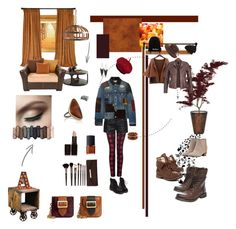 """""""...feuilles"""" by yargo on Polyvore featuring moda, Dex, True Religion, Burberry, Augusta, Rock & Candy, GUESS, Junya Watanabe, Steve Madden e NOVICA"""