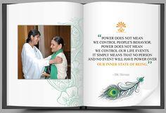 Bk Shivani Quotes, Good Morning Life Quotes, Brahma Kumaris, Om Shanti Om, Louise Hay, Life Lessons, Attitude, Spirituality, Knowledge