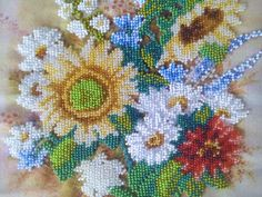 The picture is embroidered with Czech beads on fabric. Without frame, it can be ordered optionally. The size of the picture is 22cm (8,5) x 30cm (11,5)  EXPRESS SHIPPING