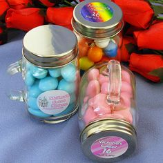 personalized mini glass candy jars bright crafty things