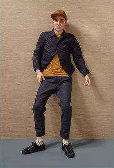 Smart slim trousers and lightweight jackets come together for Universal Works' fall-winter 2017 collection.
