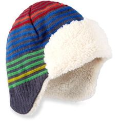 7f46aa902a454 REI Striped Knit Aviator Hat - Infants Toddler Boys  Boys Winter Hats