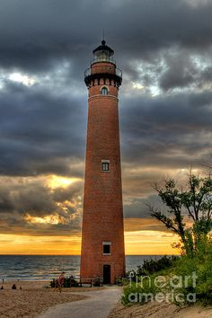 Little Sable Lighthouse near Mears, Michigan.
