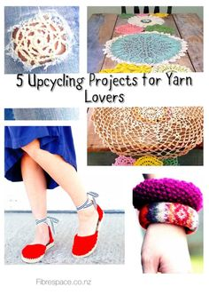 5 upcycling projects for yarn lovers pinterest