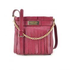 Borse TWIN-SET - Leather Fringes - Borsa donna AA57AQ Berry - Parlatobags.it 531aebdd961